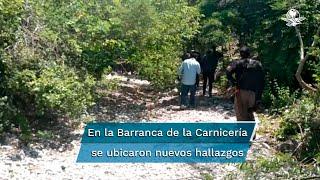"""Alejandro Encinas y el fiscal del Caso Ayotzinapa visitaron la llamada Barranca de la Carnicería, lugar donde se encontraron nuevos hallazgos y evidencia que desmintieron la llamada """"verdad histórica"""""""