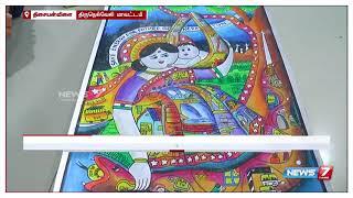 அகில இந்திய அளவில் நடைபெற்ற ஓவியப் போட்டியில் இரண்டாம் இடம் பிடித்த திருநெல்வேலி மாணவி