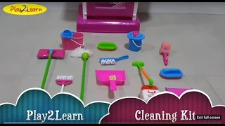 Kids kitchen toys to learn cleaning kit