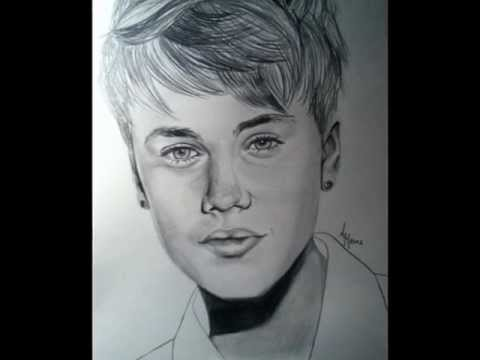 Drawing Justin Bieber Pencil Step By Step Youtube
