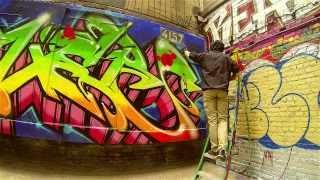 "New York Graffiti | Tuff City Manhattan | Graffiti Power | Painting the ""train"""