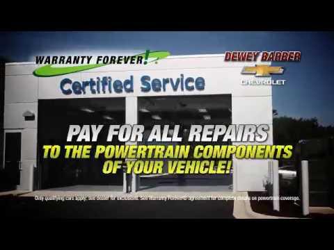 warranty forever at dewey barber chevrolet youtube rh youtube com