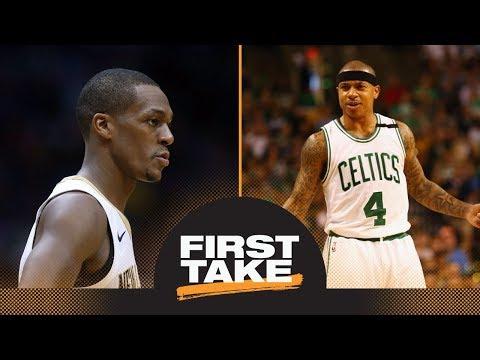 First Take reacts to Rajon Rondo saying Celtics should not honor Isaiah Thomas   First Take   ESPN