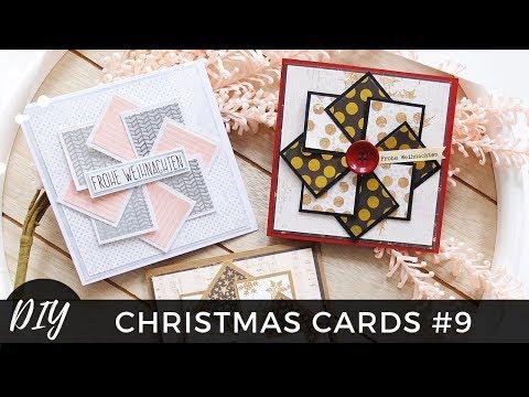 Weihnachtskarten selber basteln #9 - Weihnachtsstern - easy Christmas Cards DIY - Tutorial