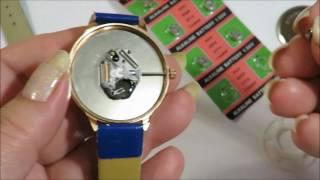 как поменять батарейку в наручных часахс Али Экспресс