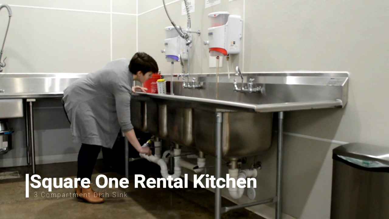 square one 3 compartment sink