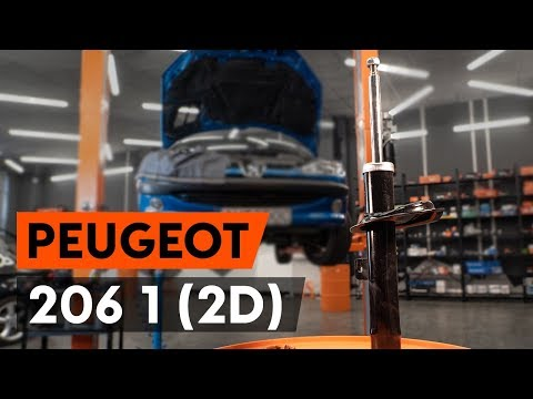 How to replace a front shock strut on PEUGEOT 206 1 (2D) [TUTORIAL AUTODOC]