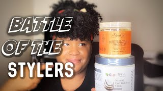 Curl Defining Creme VS Curl Enhancing Smoothie | Battle Of The Stylers