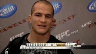 Gilbert Yvel has arrived in the UFC and Junior Dos Santos is not impressed