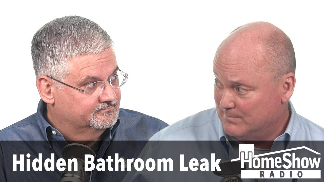 Why won't my bathroom floor dry if there's no visible leak
