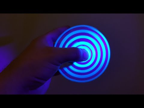 How To Make Fidget Spinner at Home Without Bearings Light Blue