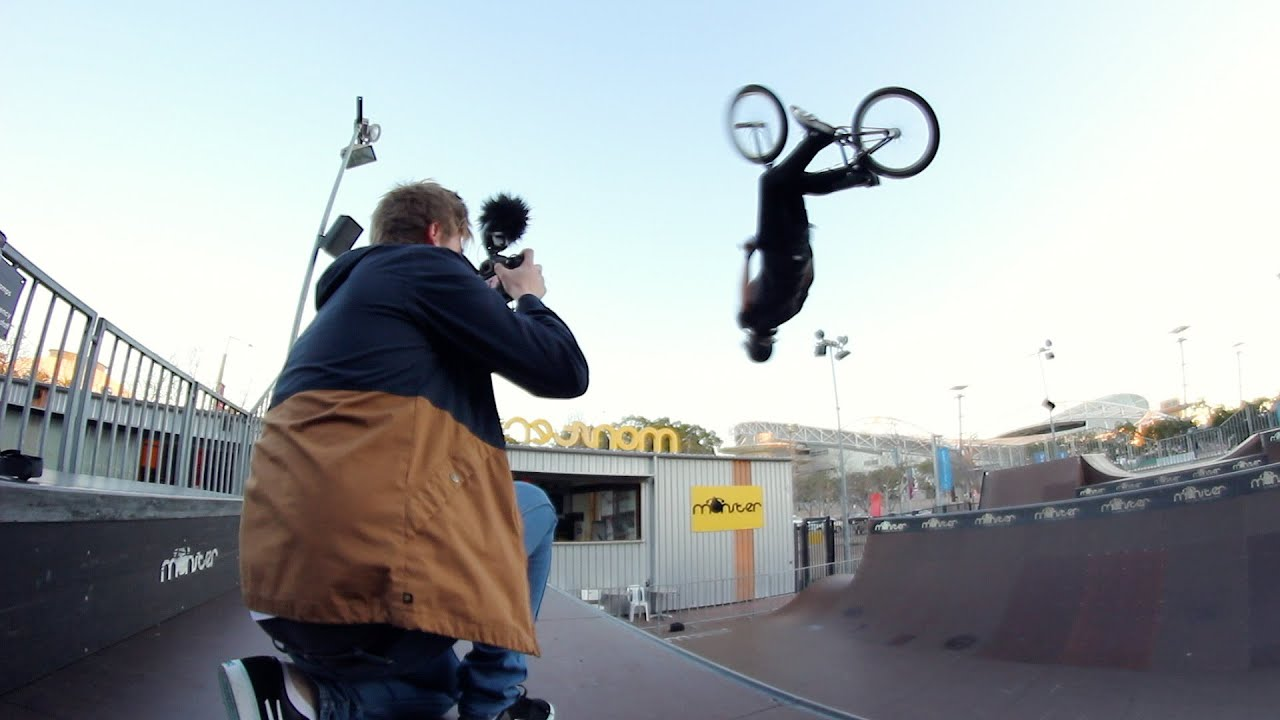 Brandon Loupos BMX At Monster Skatepark