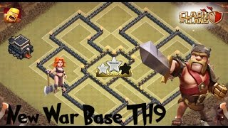 Clash of Clans | (TH9) War base(Anti 3 star,anti hog,anti valkyrie)2016+REPLAYS / Анти 3 звезды база