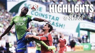 HIGHLIGHTS: Seattle Sounders vs San Jose Earthquakes | August 20, 2014