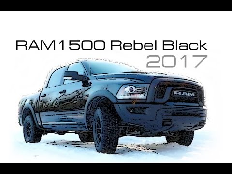 ram 1500 rebel black 2017 start of production youtube. Black Bedroom Furniture Sets. Home Design Ideas