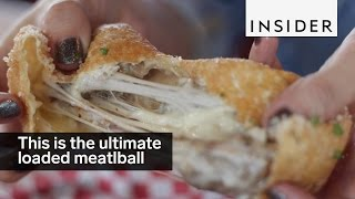 This pizza place invented the ultimate loaded meatball