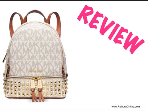 5d4f70d590f9 Michael Kors Rhea Zip Small Studded Backpack REVIEW - YouTube