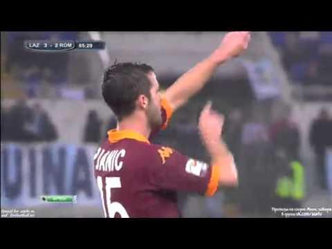 Miralem Pjanic goal Lazio vs Roma 3-2 EUROGOL