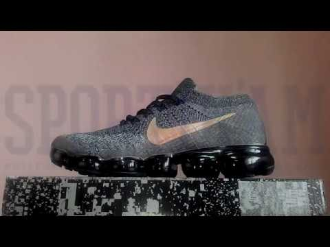 dc82682bee0 Кроссовки Nike Air VaporMax Flyknit Explorer Dark 899473-010 - YouTube
