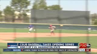 CSUB  baseball takes series against Washington State
