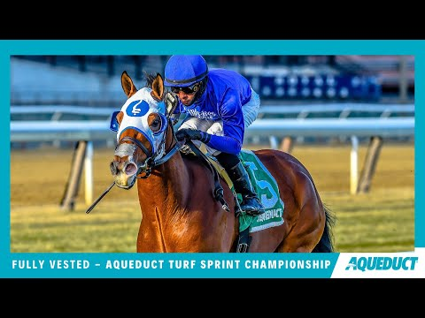 Fully Vested Wins the Aqueduct Turf Sprint Championship