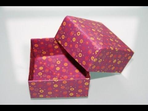 einfache origami box youtube. Black Bedroom Furniture Sets. Home Design Ideas