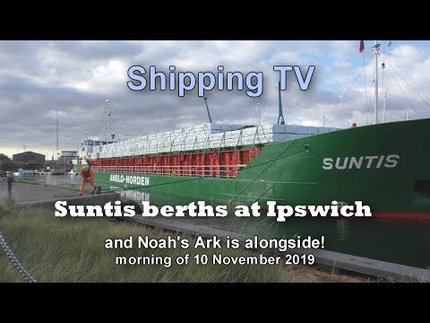 Up Close: Suntis berths at Ipswich, 10 November 2019