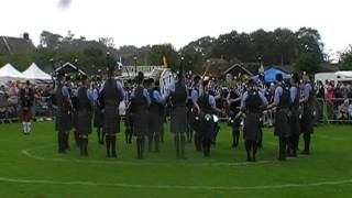 Dumfries and Galloway Constabulary pipe band annan 2011
