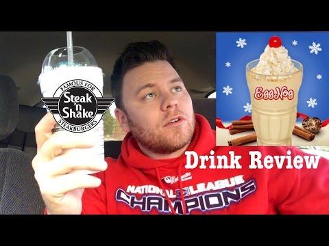 STEAK 'N SHAKE EGG NOG SHAKE REVIEW/ NUTRITION FACTS/CHRISTMAS ...