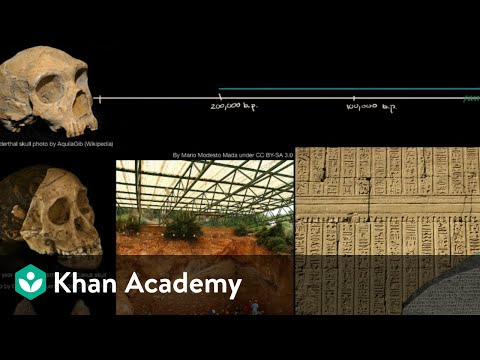 History and prehistory | The Origin of Humans and Human Societies | World History | Khan Academy