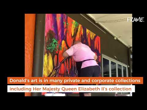 Donald James Waters Time Lapse Mural Art - Cairns Oct 2017