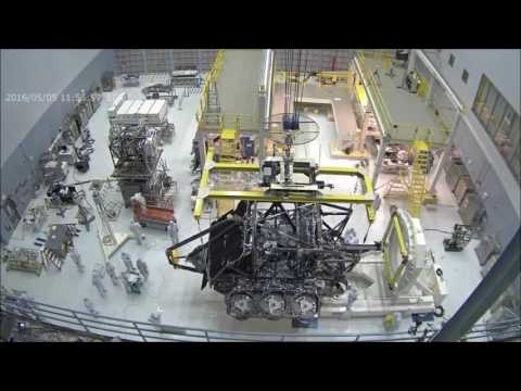 Time-lapse: Webbcam View of James Webb Space Telescope Lift