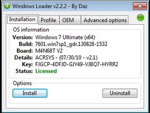 Windows 7 loader 2. 1. 7 by daz free download.