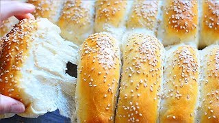 Milk Bread / Dinner Rolls / Soft & Chewy Buns (Roll-ppang: 롤빵) Poğaça