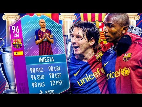 THE ILLUSIONIST! 96 END OF ERA INIESTA BARCELONA SQUAD! FIFA 18 ULTIMATE TEAM