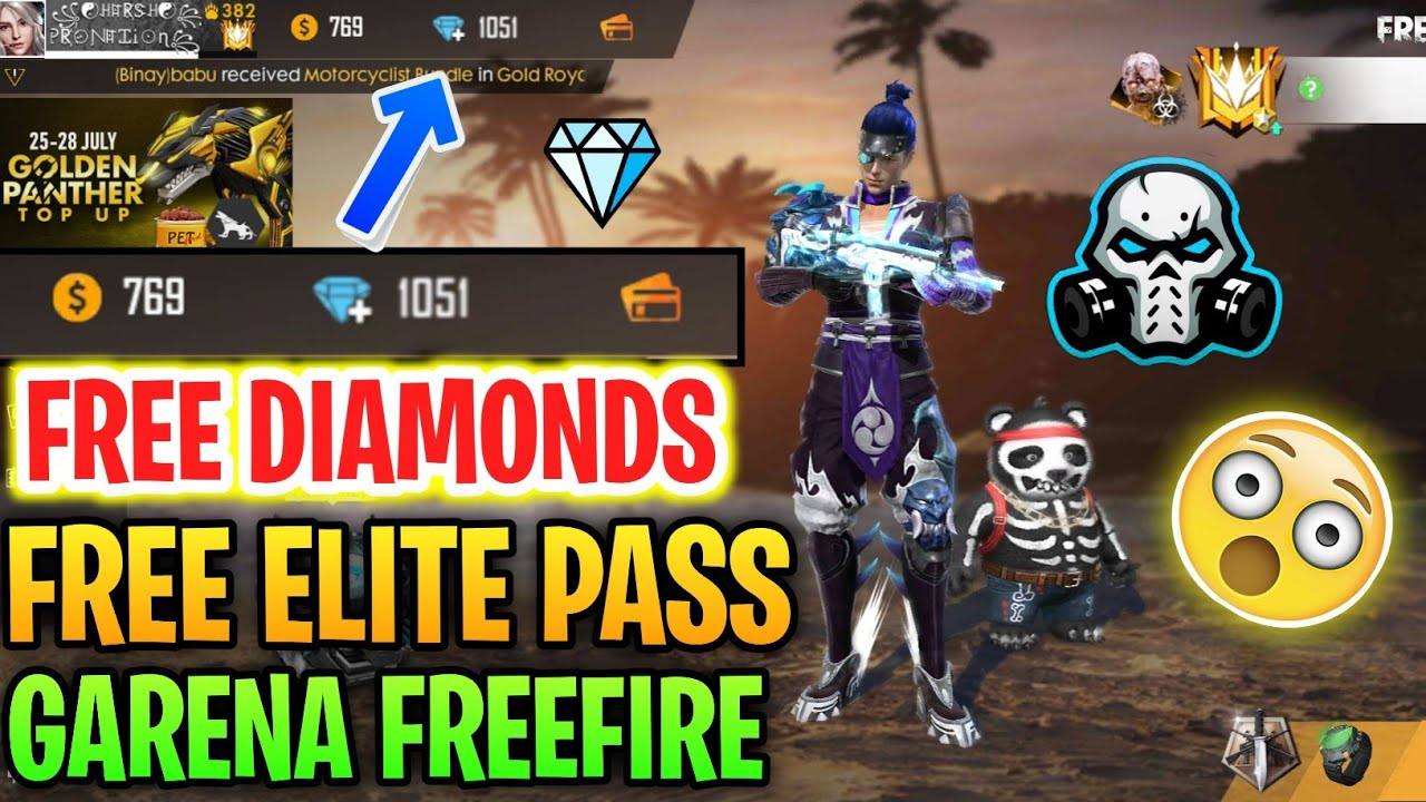 How To Get Free Diamonds In Garena Free Fire Upgrade Elite Pass For Free Youtube