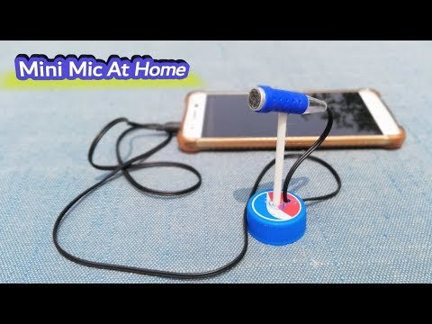 How to Make  Mini Microphone With Stand at Home Easy - DIY Macking Mic