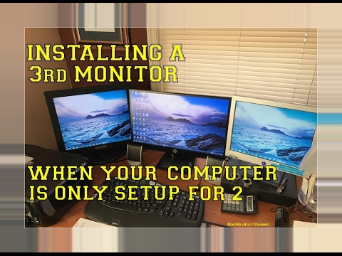 How To EASILY Install A 3rd Monitor When Your Computer Is Only Setup For 2