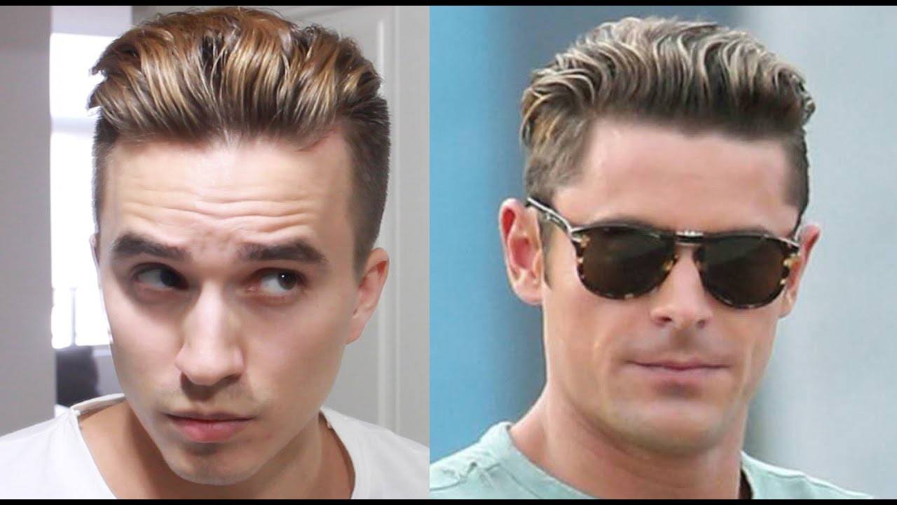 zac efron baywatch hairstyle tutorial - men's undercut hair - youtube