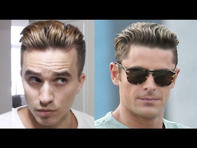 Zac Efron Baywatch Hairstyle Tutorial Mens Undercut Hair Youtube
