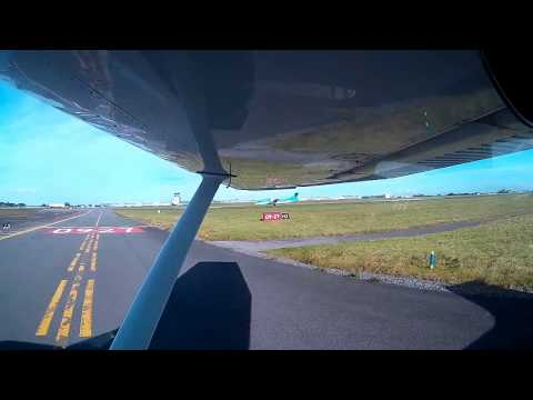 Bristol to Dublin (Weston) in a Cessna 182 Part 1 of 3. ATC AUDIO