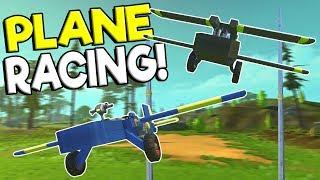 PLANE STUNT RACE & BUILD OFF! - Scrap Mechanic Multiplayer Gameplay - Plane Challenge