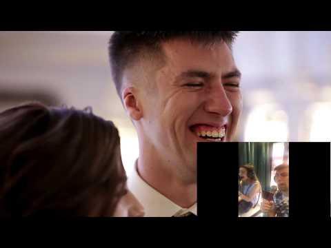 Подарок - сюрприз жениху на свадьбу! И его реакция на клип! Яся И Никита