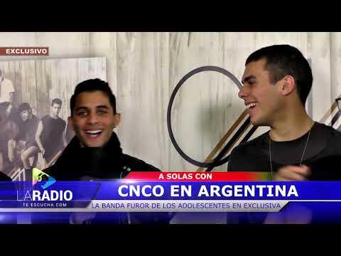 Entrevista: Cnco en Argentina , hablan en exclusiva con la radio