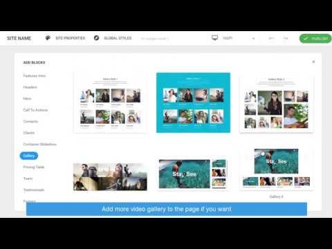 JA Site Builder - Create video gallery in 2 minutes