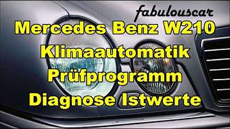 W210 Climate Control Fault Codes List