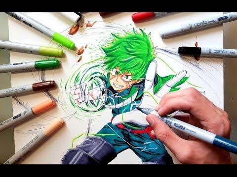 Speed Drawing IZUKU MIDORIYA - DEKU From My Hero Academia