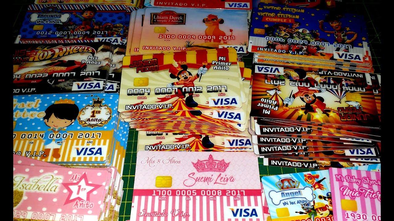 Tarjetas de Credito Personalizadas Cumpleaños 01 YouTube
