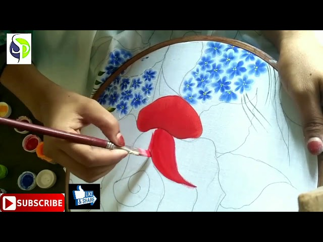 Painting tutorial bed sheet design