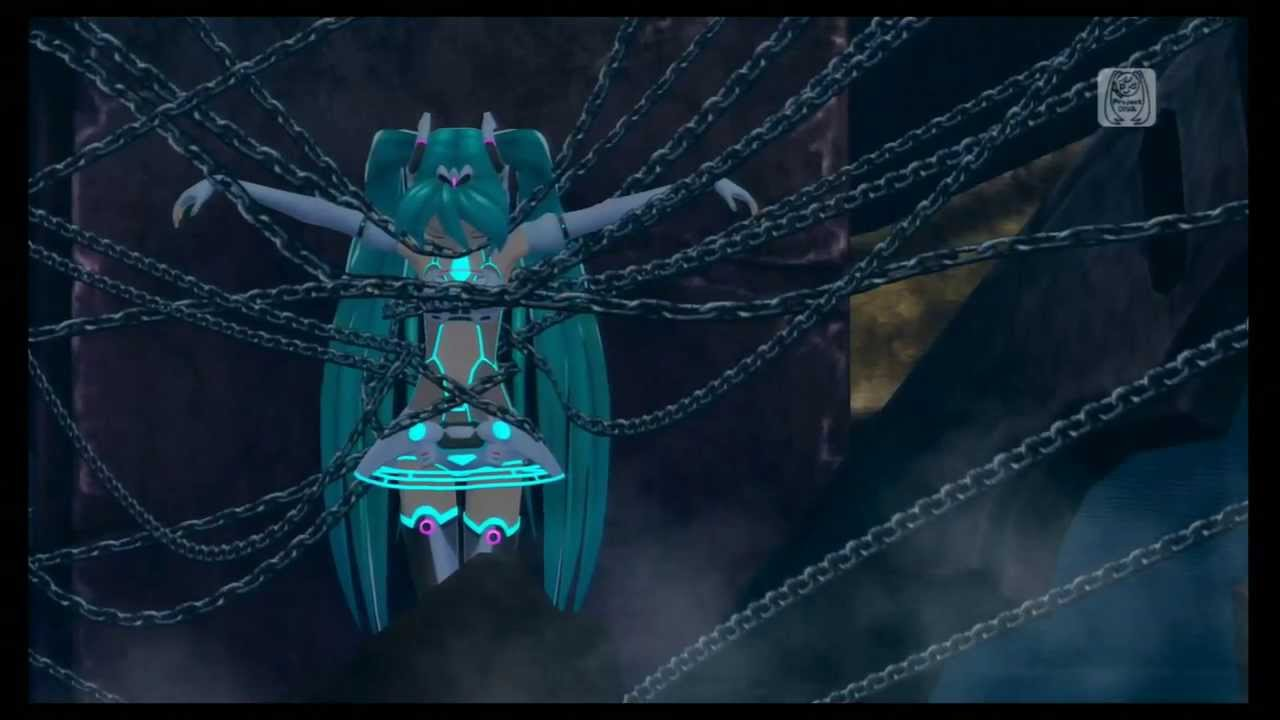 Caged Girl Wallpaper Hatsune Miku Project Diva F Black Rock Shooter Music